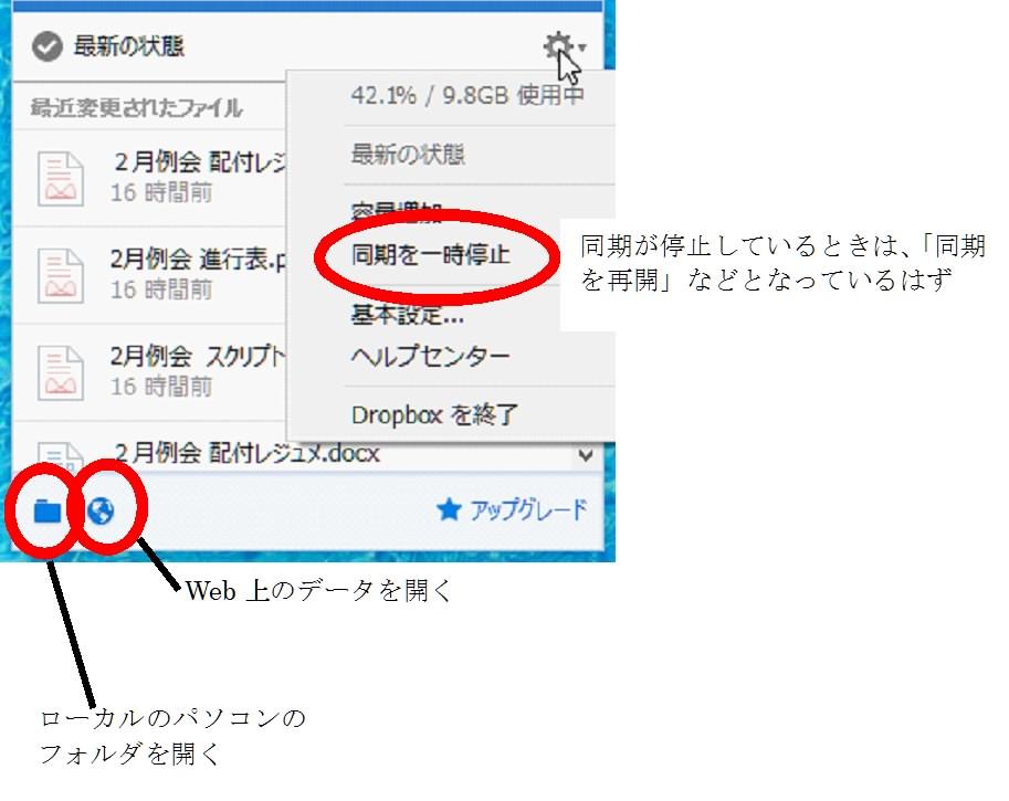 Dropbox-window